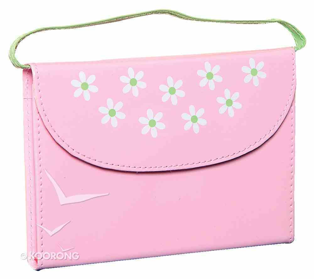 NIRV New Testament With Psalms and Proverbs Purse Pink/Green Patent Imitation Leather