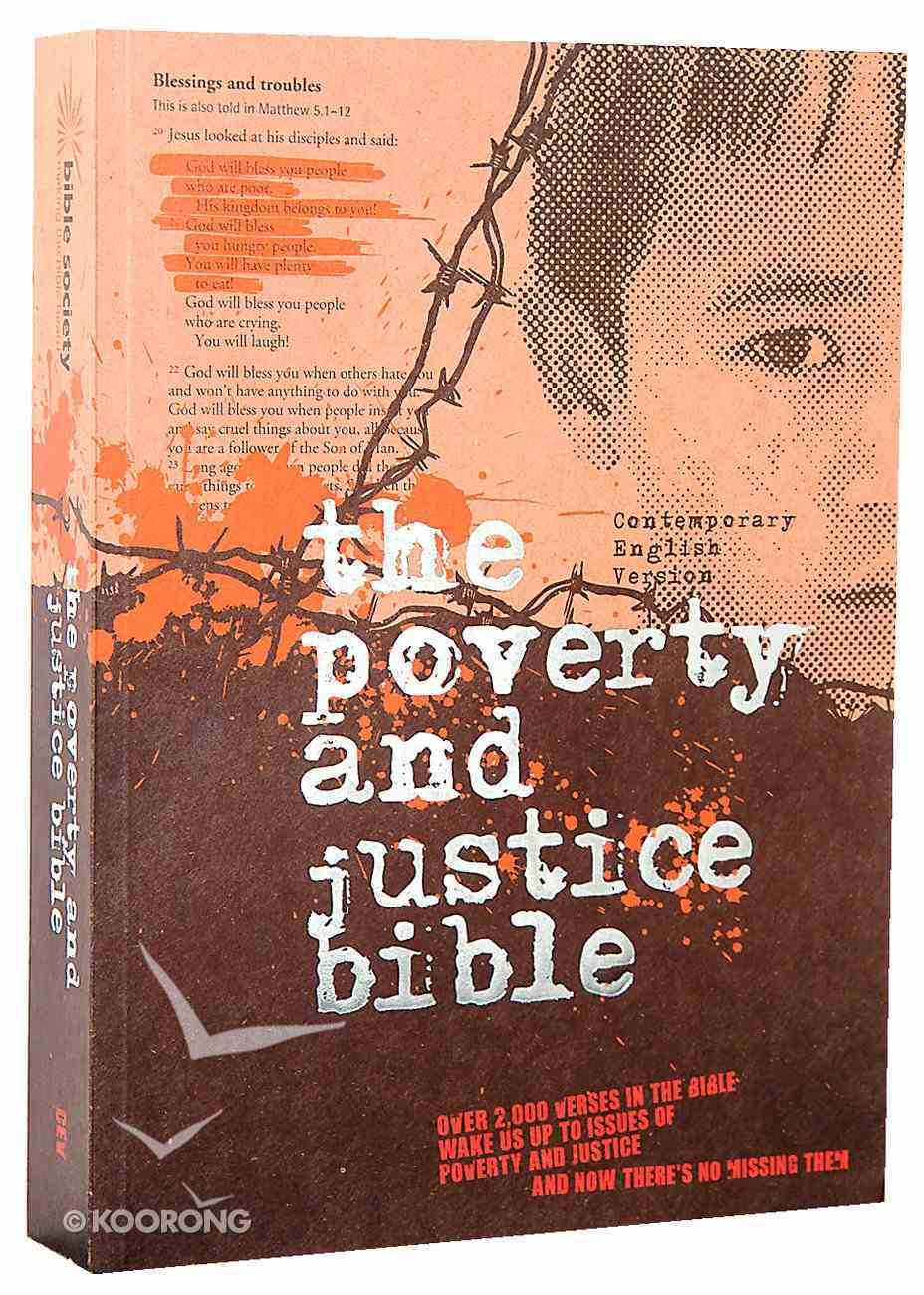 CEV Poverty and Justice Bible Paperback