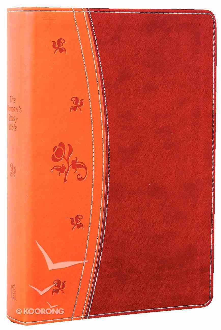 NKJV Woman's Study Bible Chestnut Brown/Brugundy (2nd Edition) Premium Imitation Leather