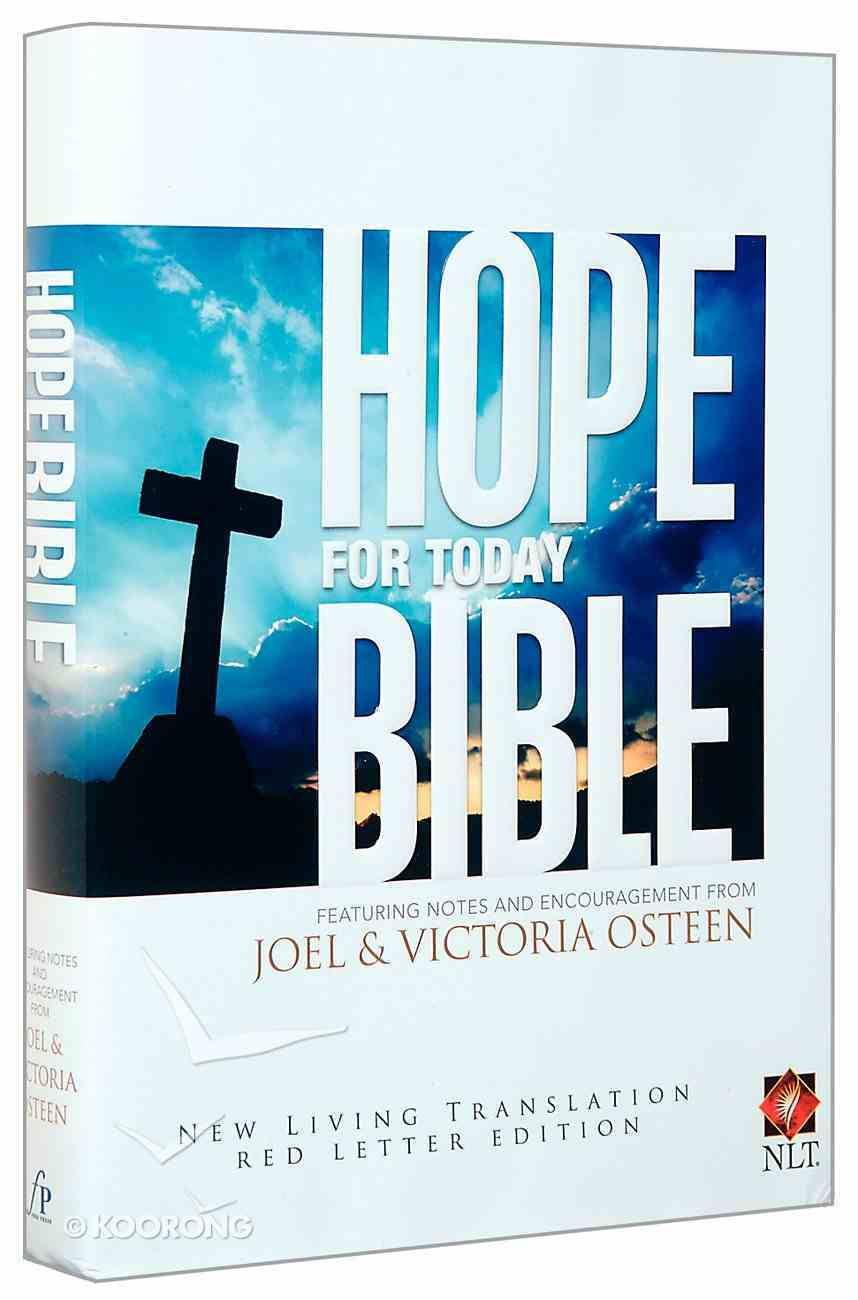NLT Osteen Hope For Today Bible Hardback