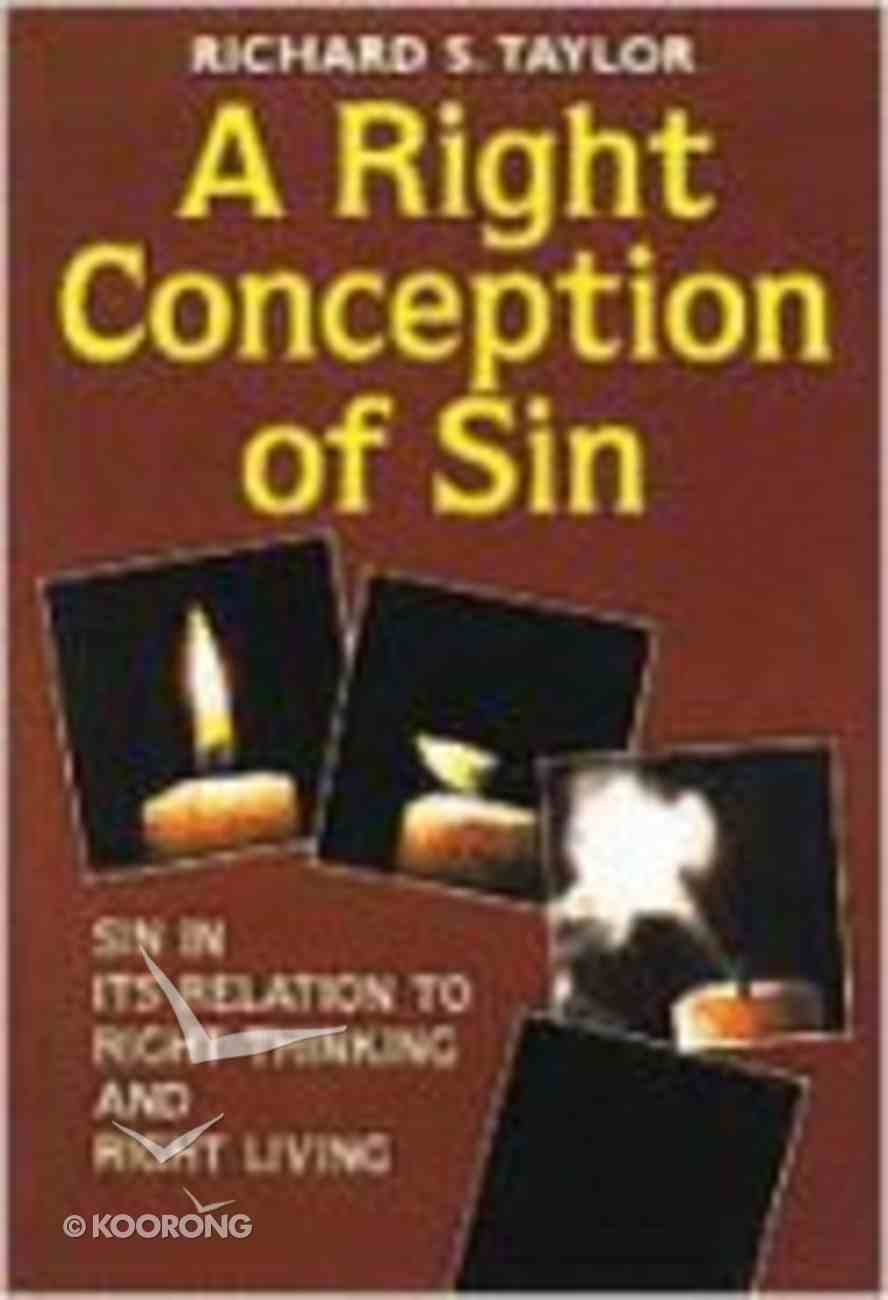 A Right Conception of Sin Paperback