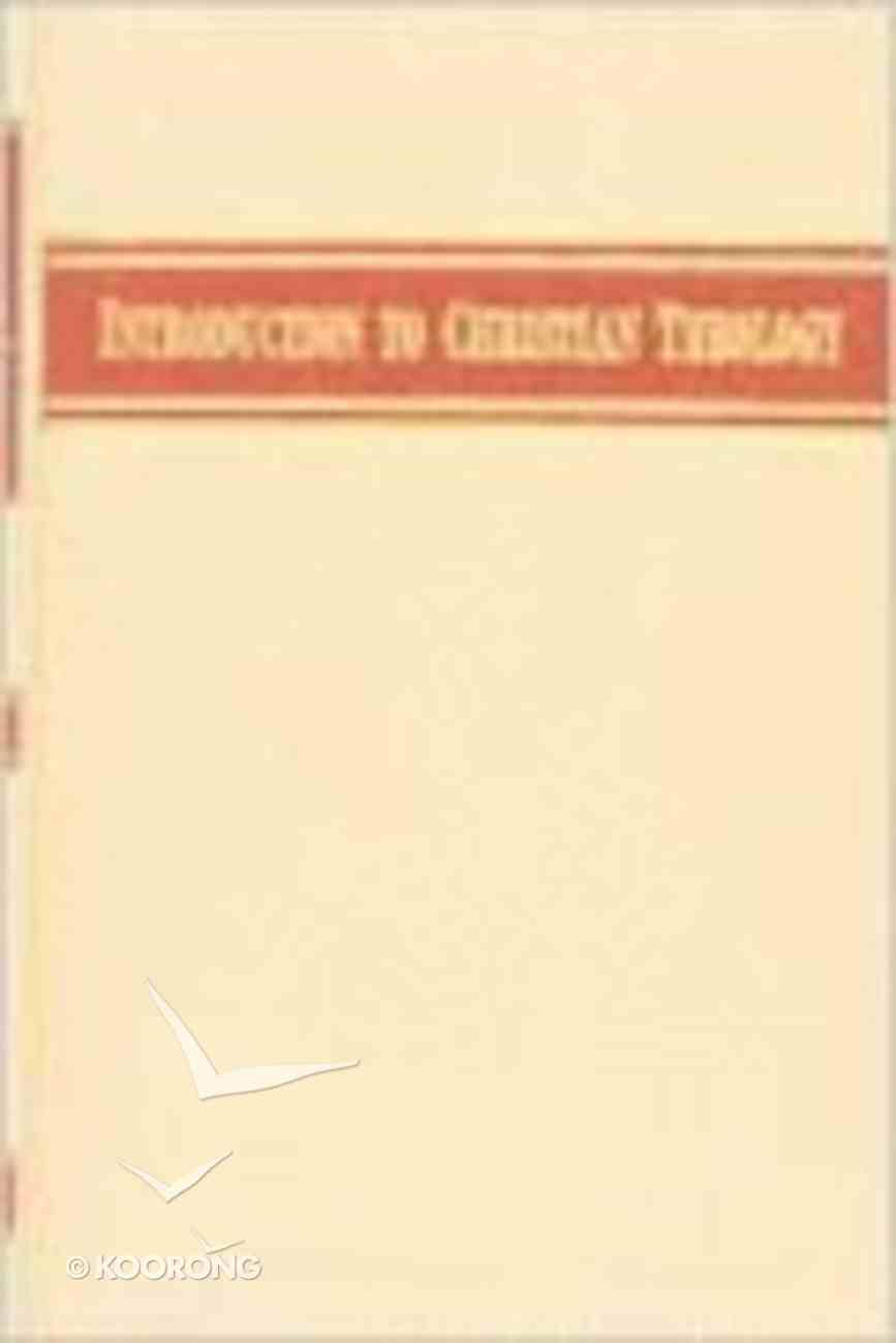 Introduction to Christian Theology Hardback