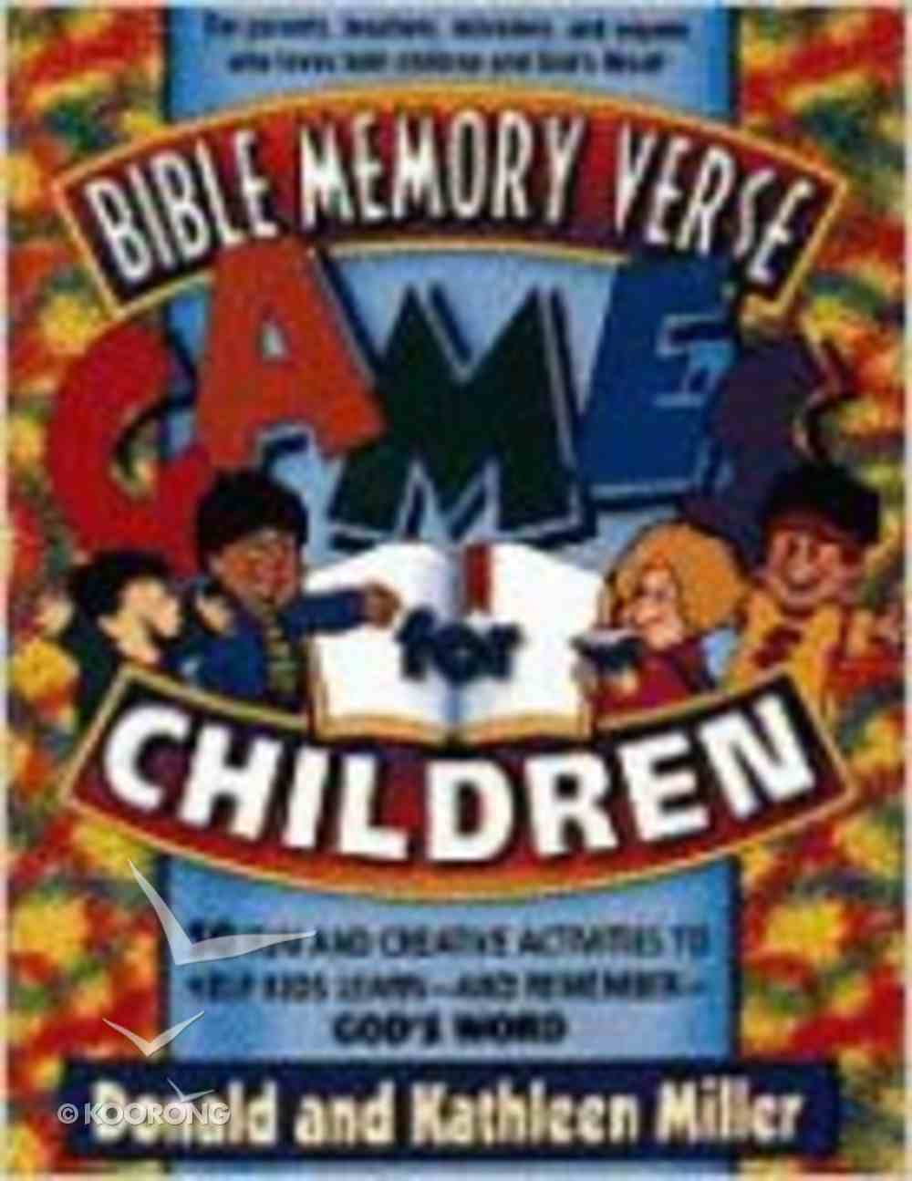 Bible Memory Verse Games For Children Paperback