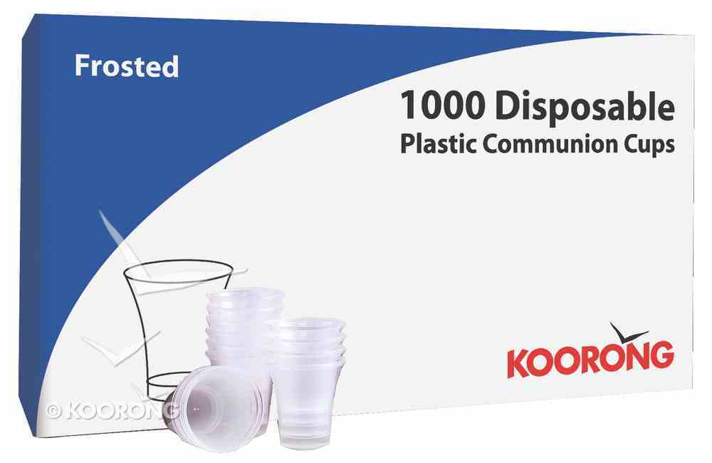Communion Cups Frosted Plastic Box of 1000 Church Supplies