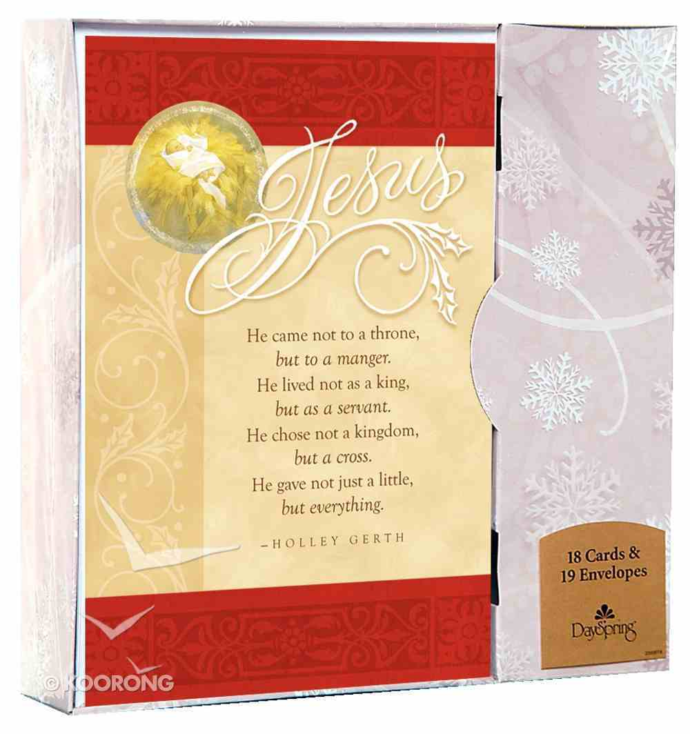 Christmas Boxed Cards: Jesus... He Came Not to a Throne Cards