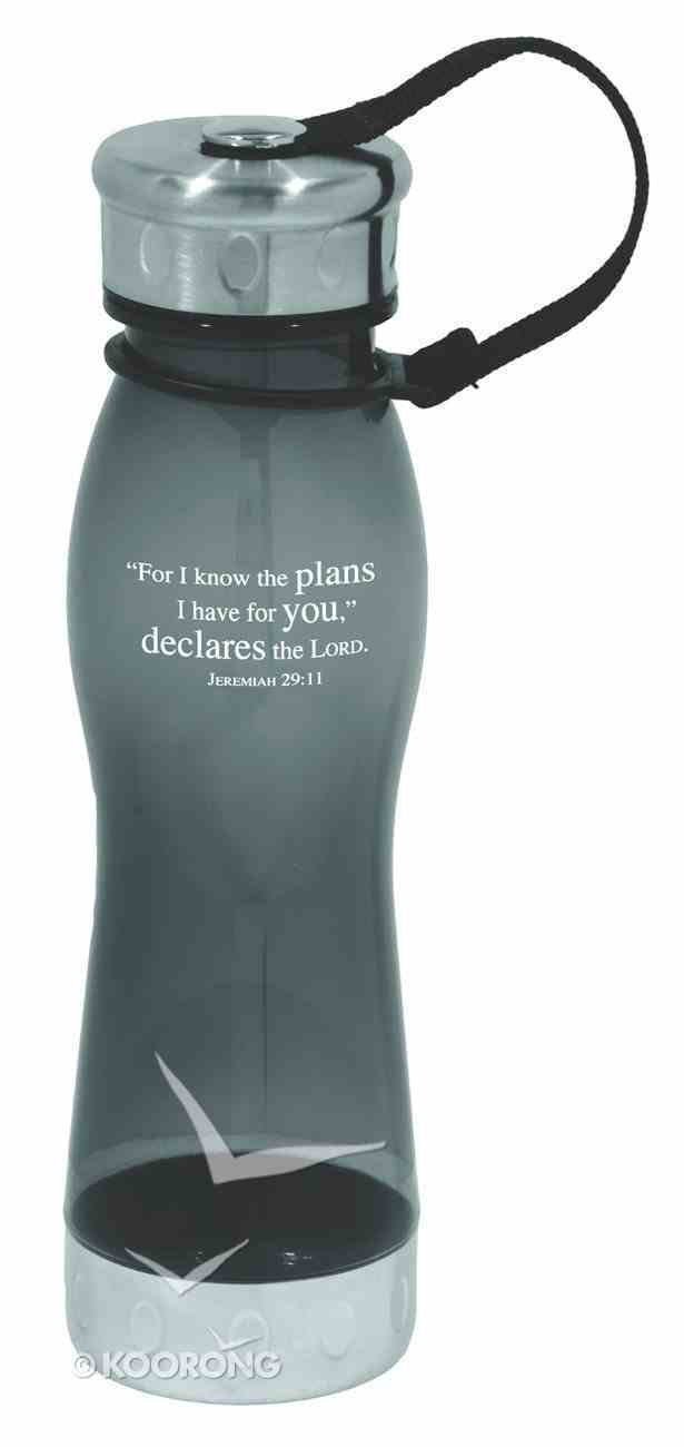 Water Bottle 600ml: Charcoal For I Know the Plans (Hand Wash Only) Homeware
