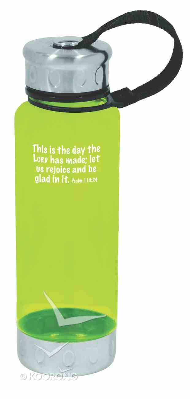 Water Bottle 600ml: Lime This is the Day Homeware