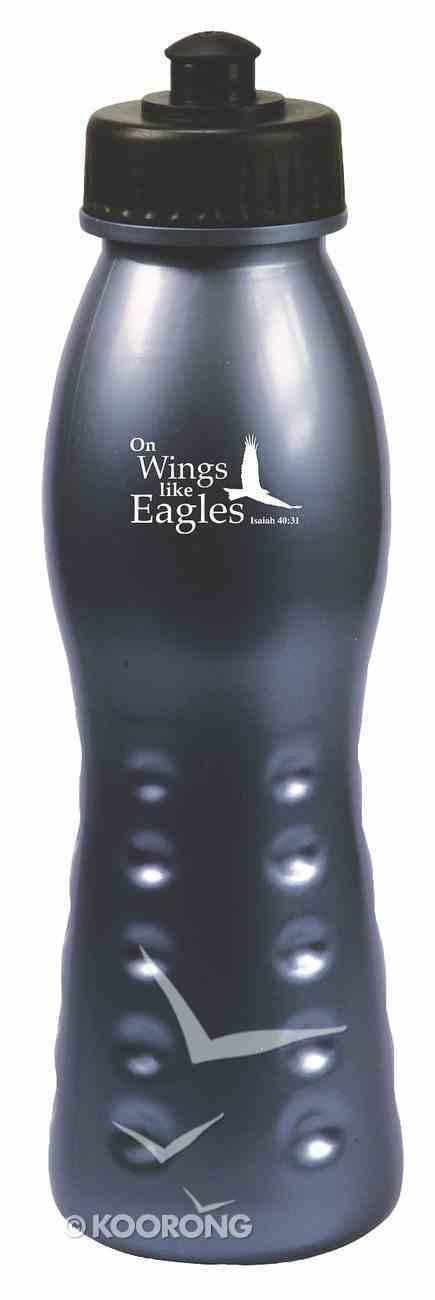 Water Bottle 680ml: Black on Wings Like Eagles Homeware