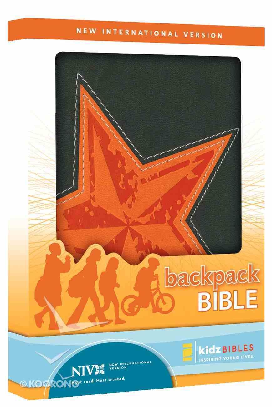 NIV Backpack Galaxy Gray Duo-Tone Bible Imitation Leather