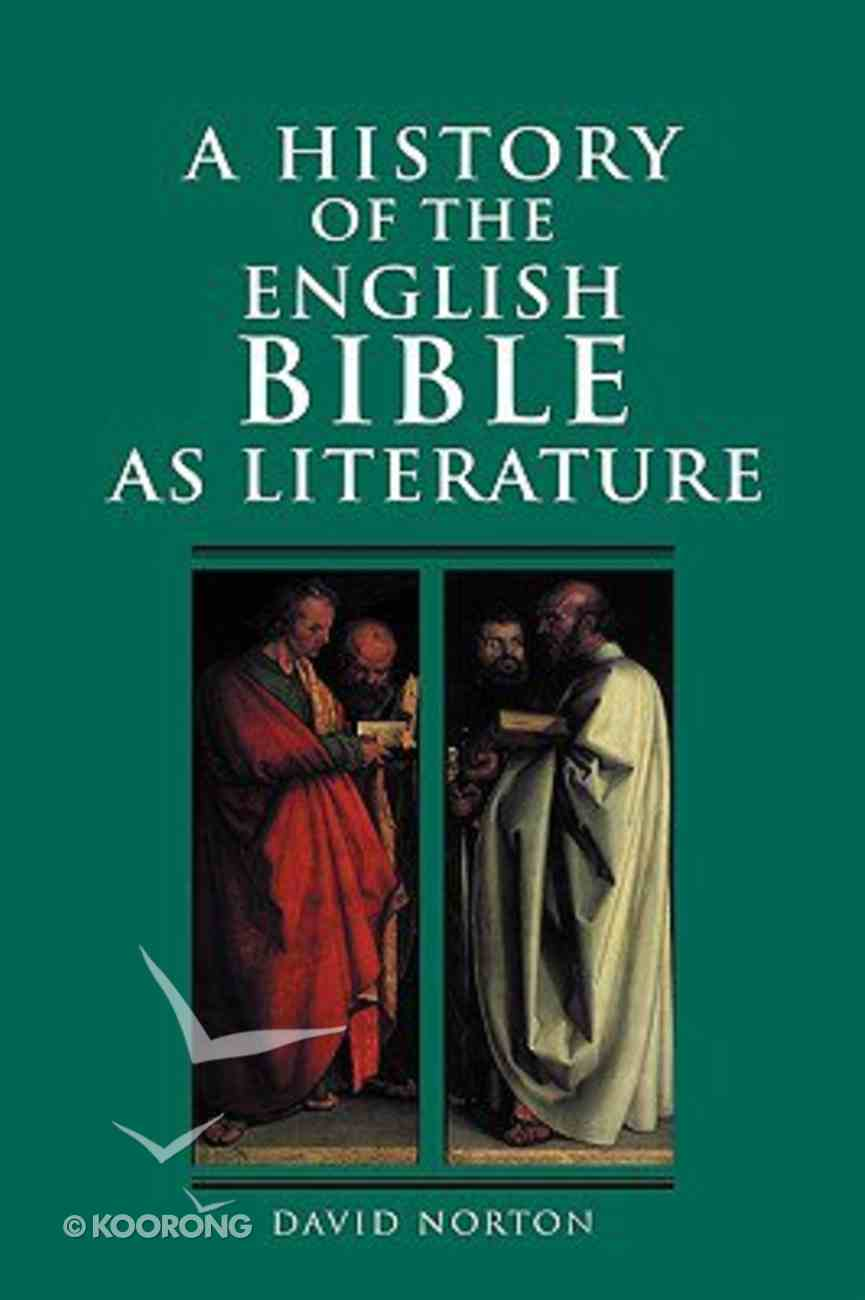 History of the English Bible as Literature Hardback