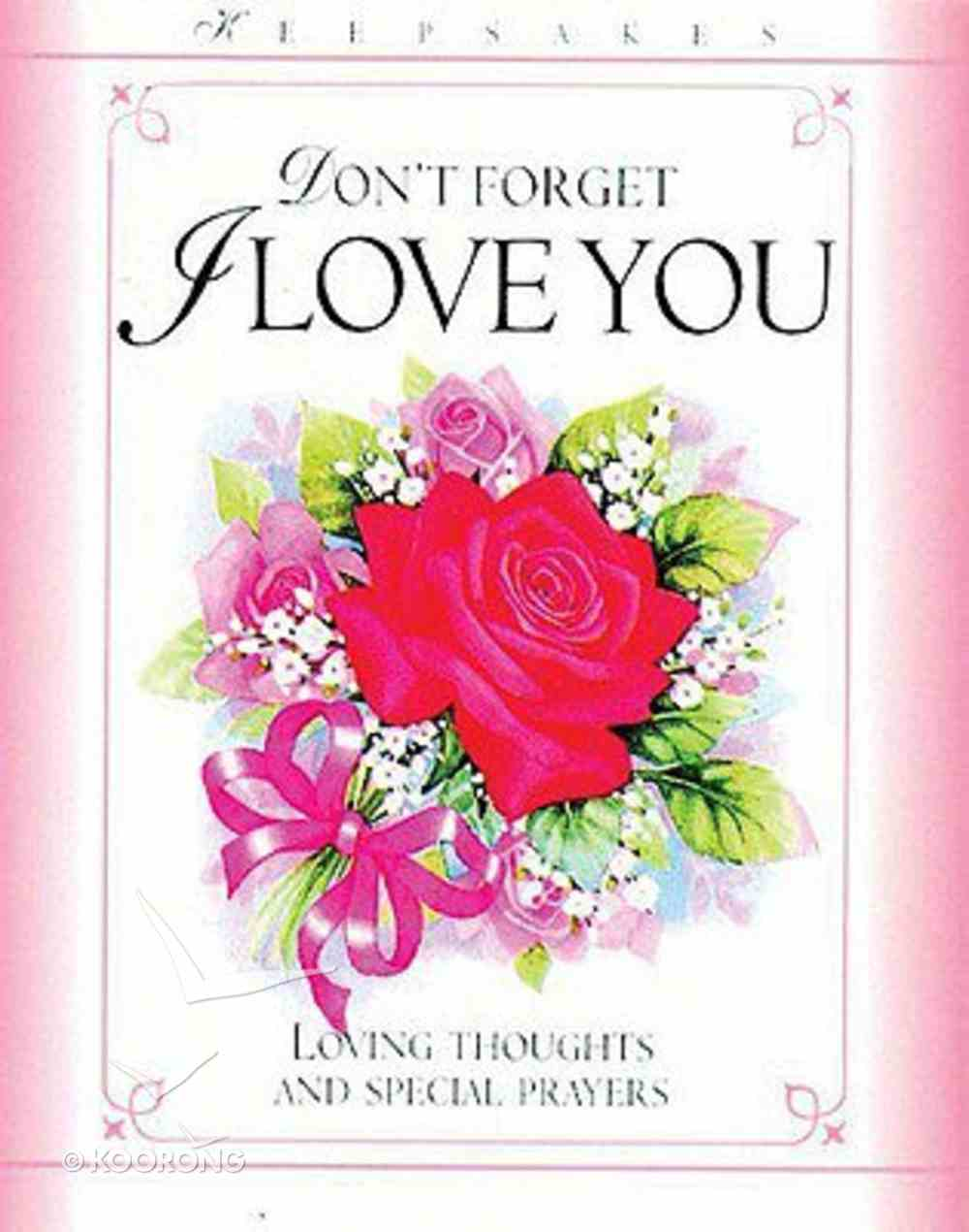 Don't Forget I Love You (Keepsakes Series) Hardback