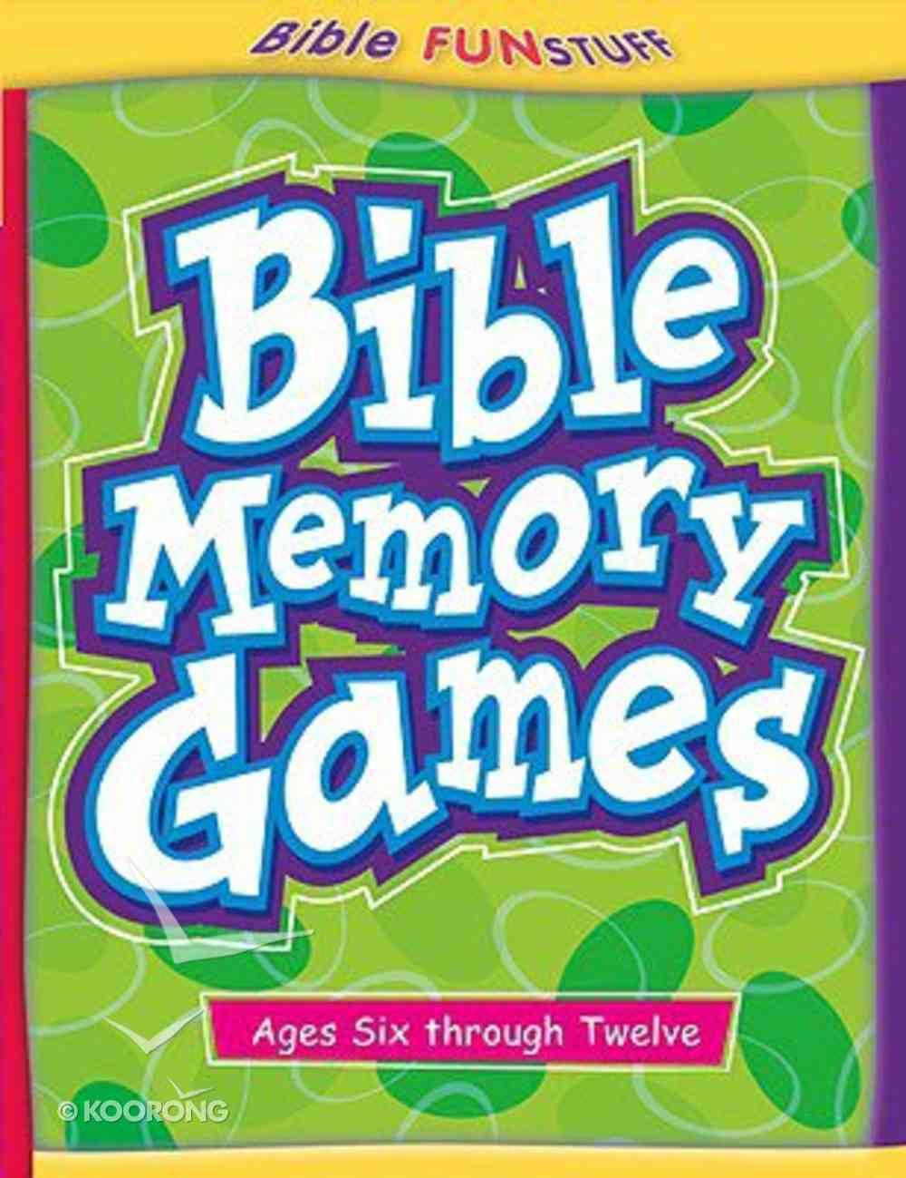 Bible Memory Games (Bible Fun Stuff Series) Paperback