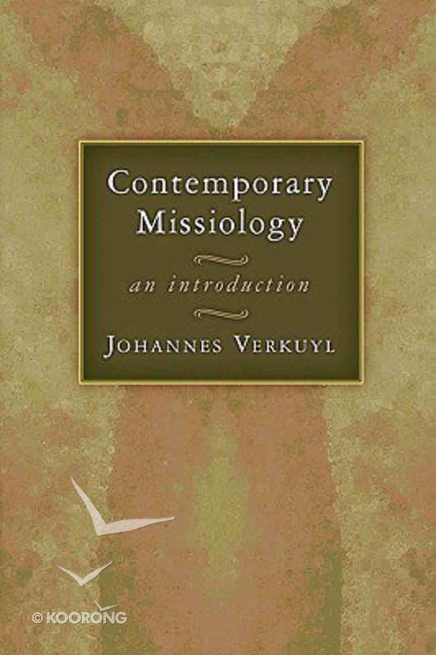 Contemporary Missiology Paperback