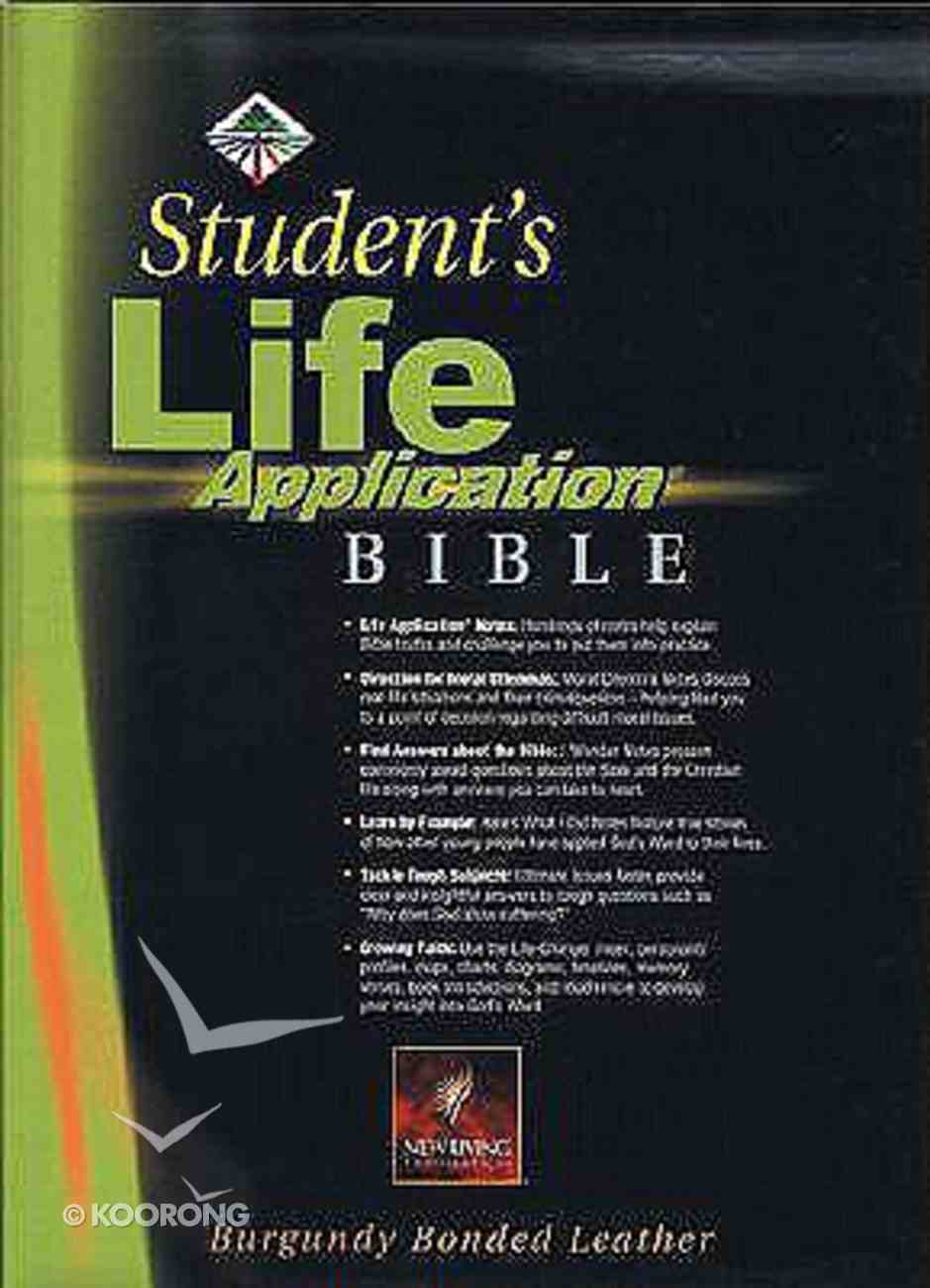 NLT Students Life Application Bible Revised Burgundy Indexed Bonded Leather