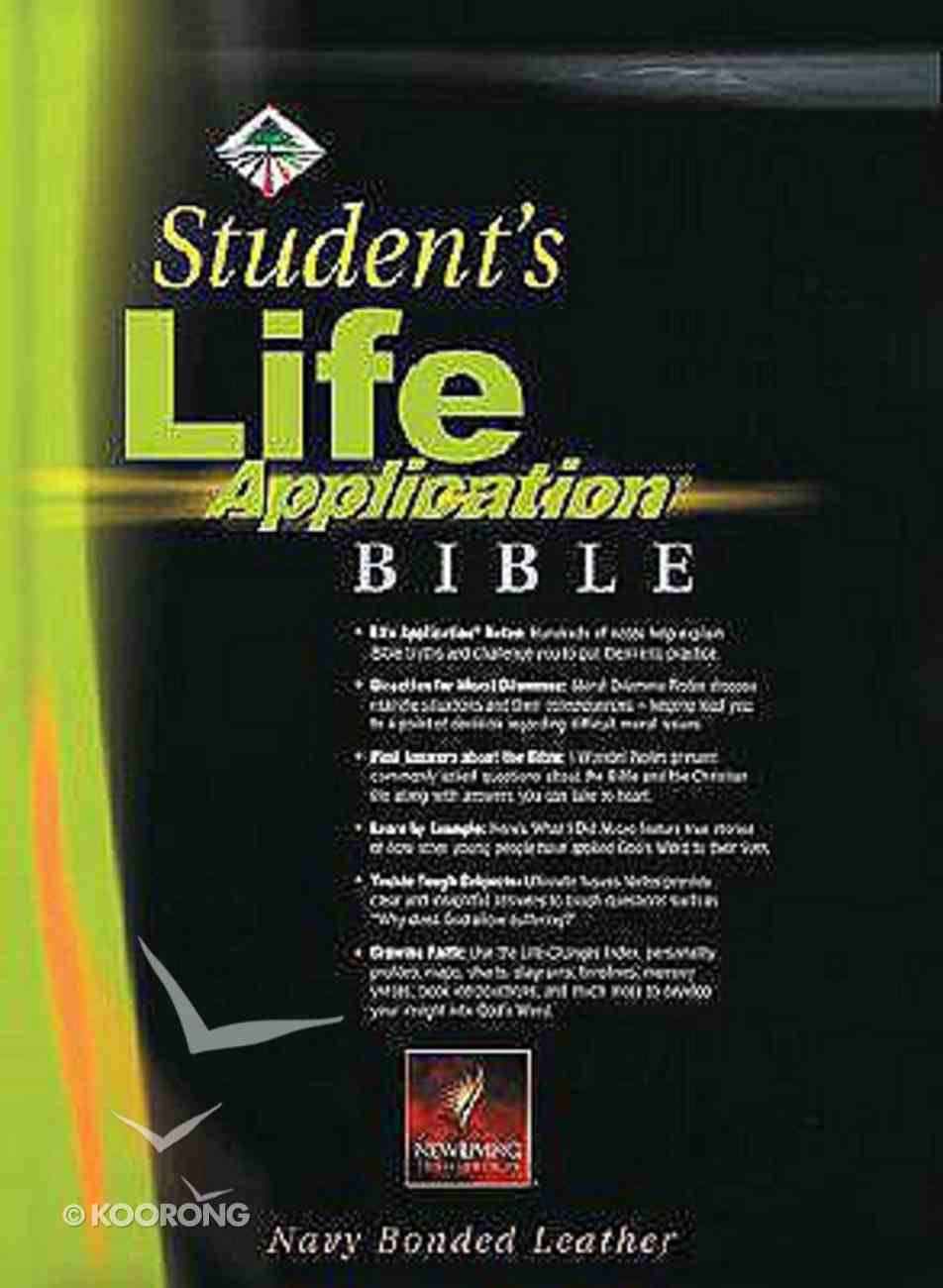 NLT Student's Life Application Revised Navy Bonded Leather