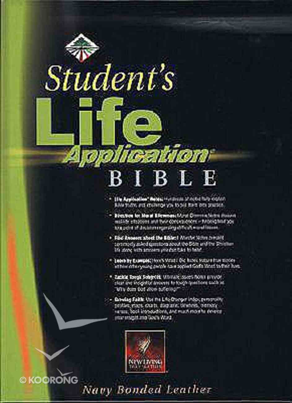 NLT Students Life Application Bible Revised Navy Indexed Bonded Leather