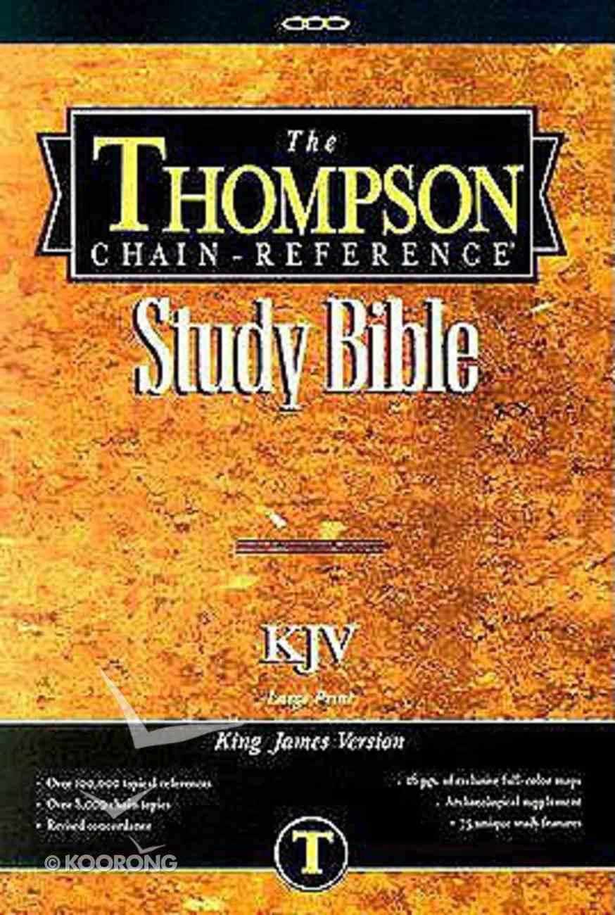 KJV Thompson Chain Reference Large Print Brown Index Hardback