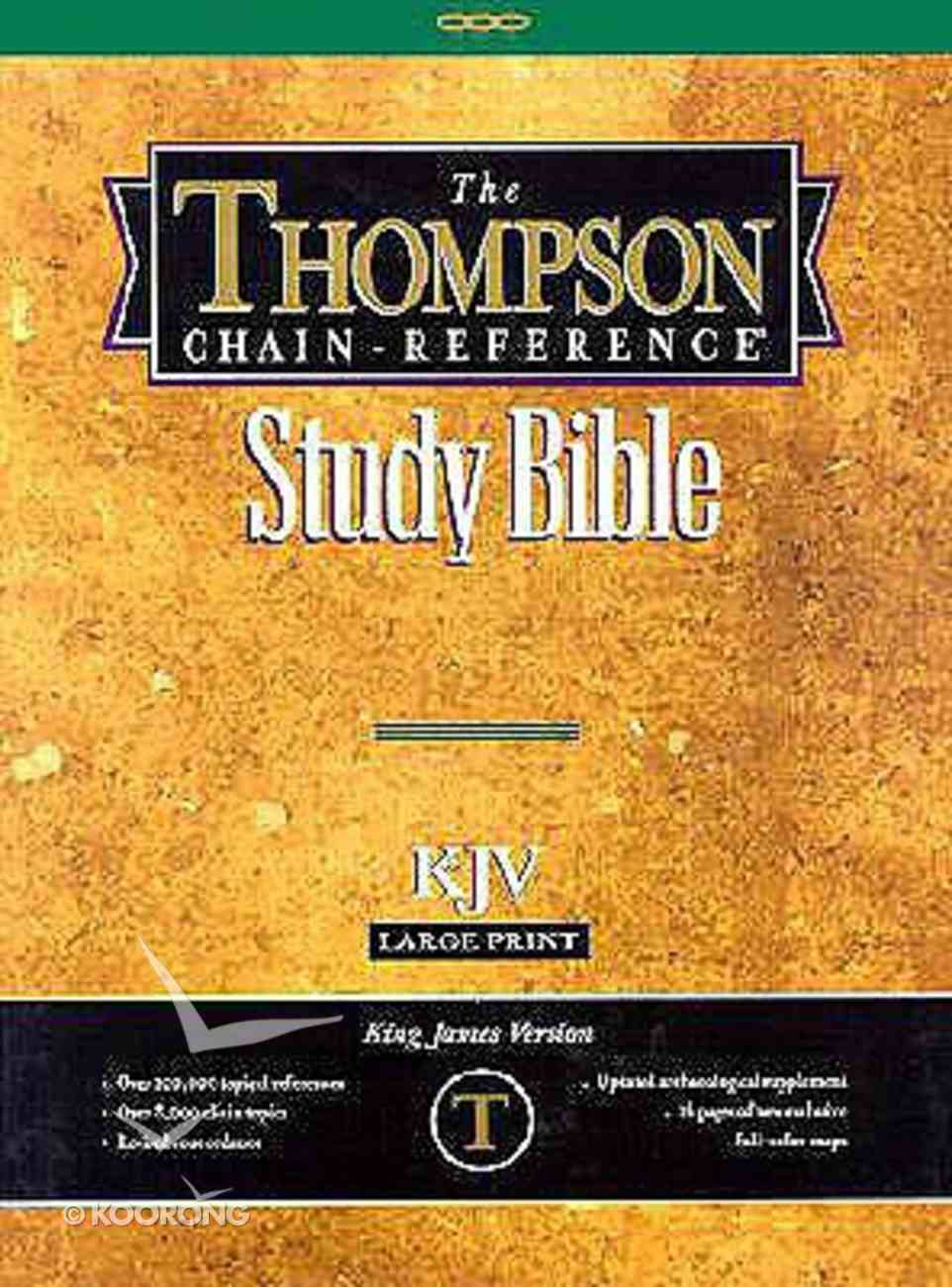 KJV Thompson Chain Reference Large Print Burgundy (Red Letter Edition) Bonded Leather