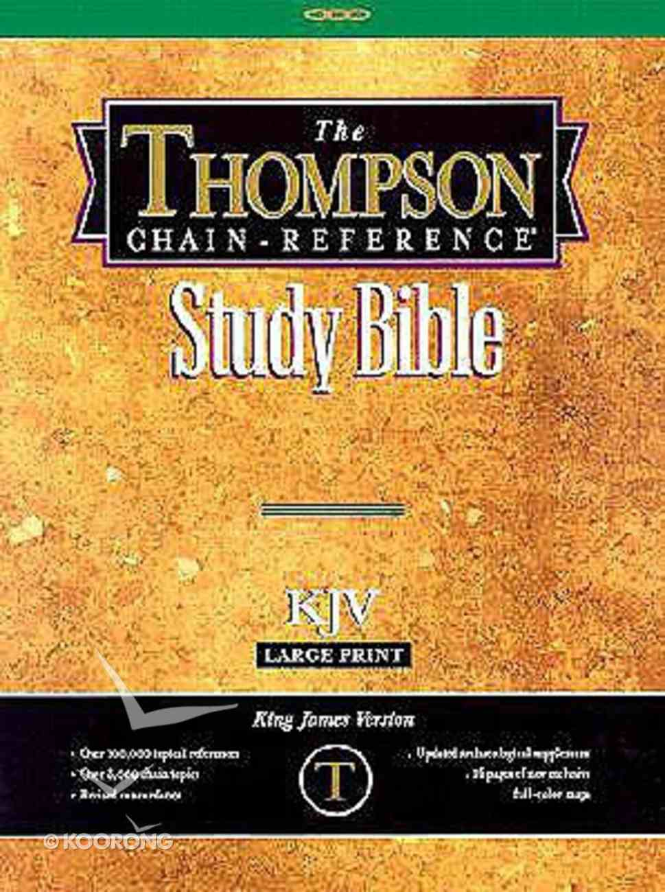 KJV Thompson Chain Reference Large Print Black (Red Letter Edition) Genuine Leather