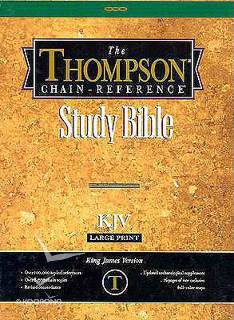 KJV Thompson Chain Reference Large Print Black Index (Red Letter Edition) Bonded Leather