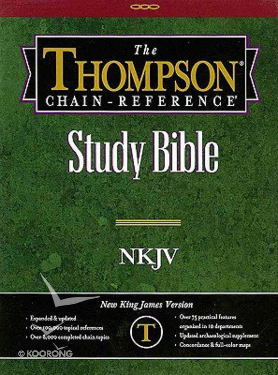 NKJV Thompson Chain Burgundy Genuine Leather
