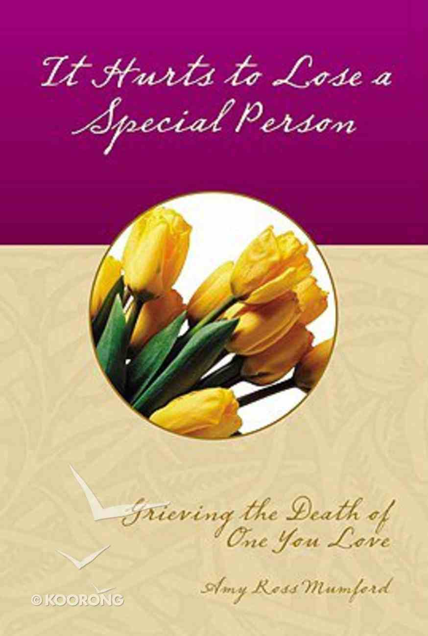 It Hurts to Lose a Special Person Booklet