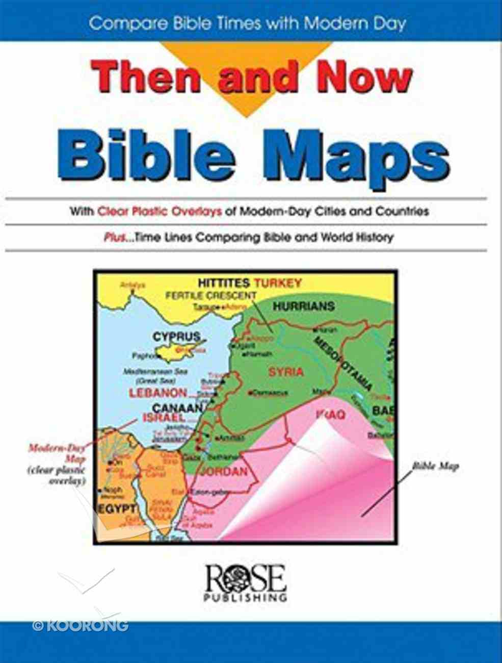 Bible Maps (Then And Now Series) Spiral