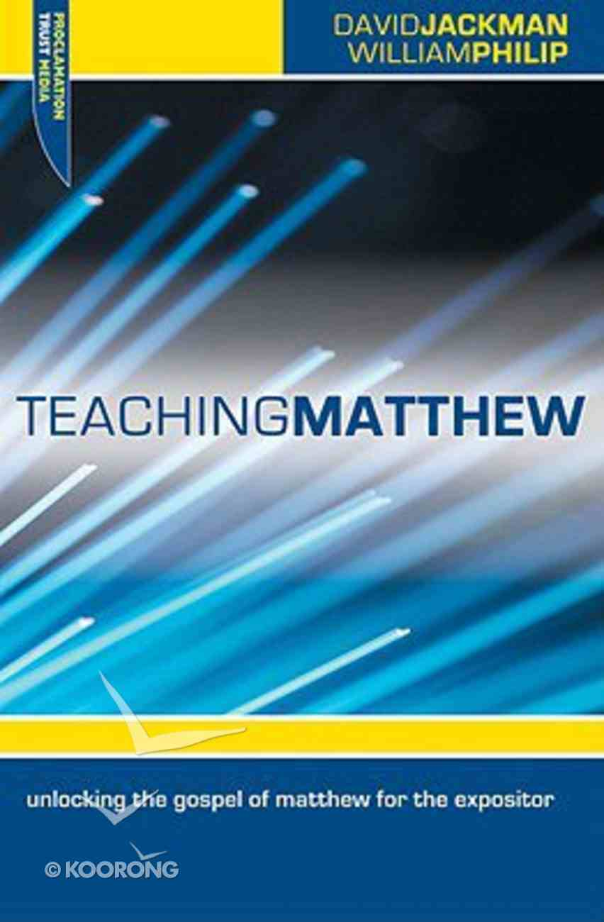 Teaching Matthew Paperback