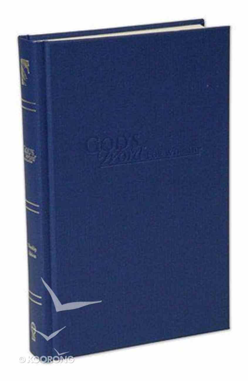 God's Word For Worship Pew Bible Dark Blue Hardback