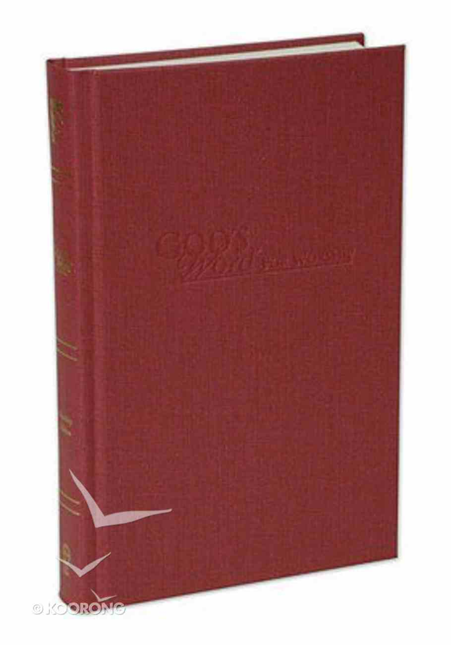 God's Word For Worship Pew Bible Cranberry Hardback