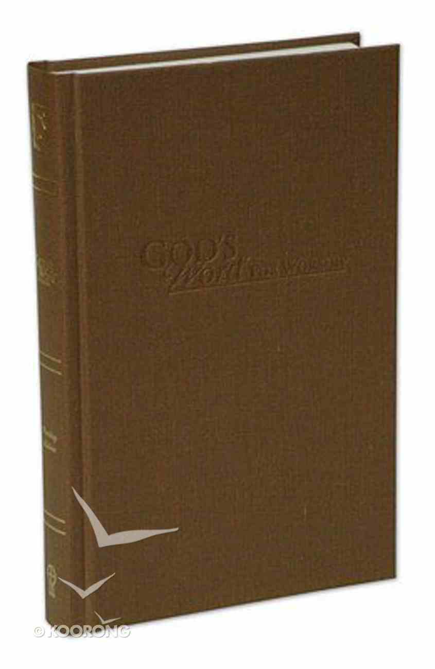 God's Word For Worship Pew Bible Hickory Hardback