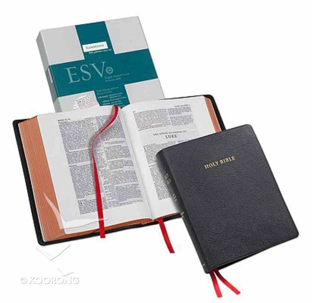 ESV Reference Bible Black Goatskin (Red Letter Edition) Genuine Leather