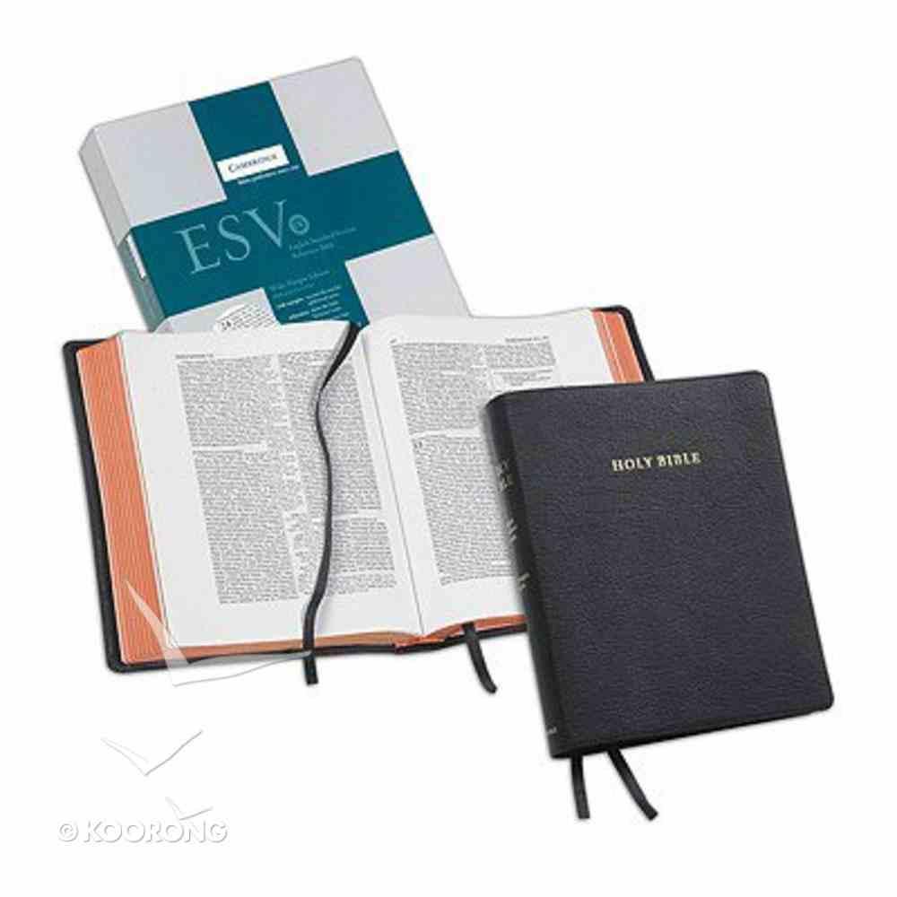 ESV Wide-Margin Reference Black Letter Black Goatskin (Cambridge Bibles) Genuine Leather