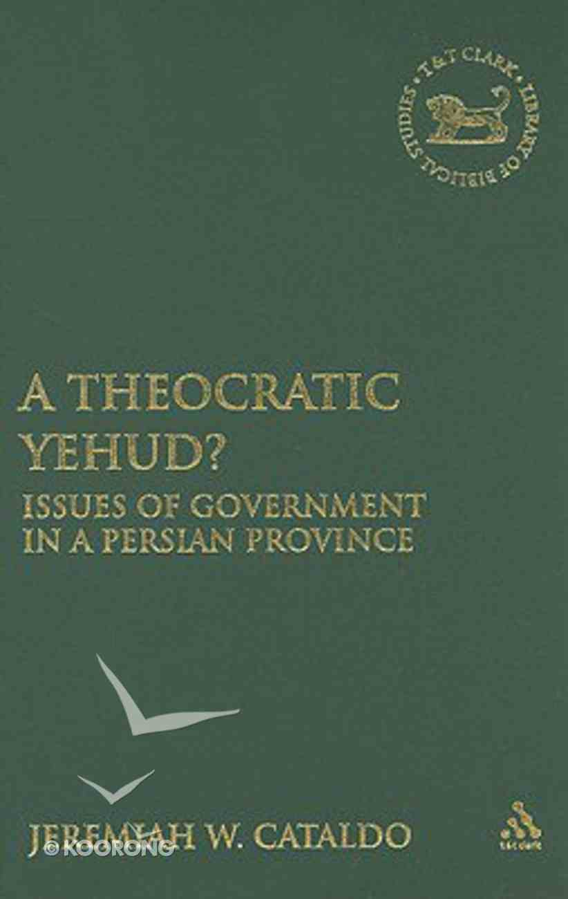 A Theocratic Yehud? Hardback