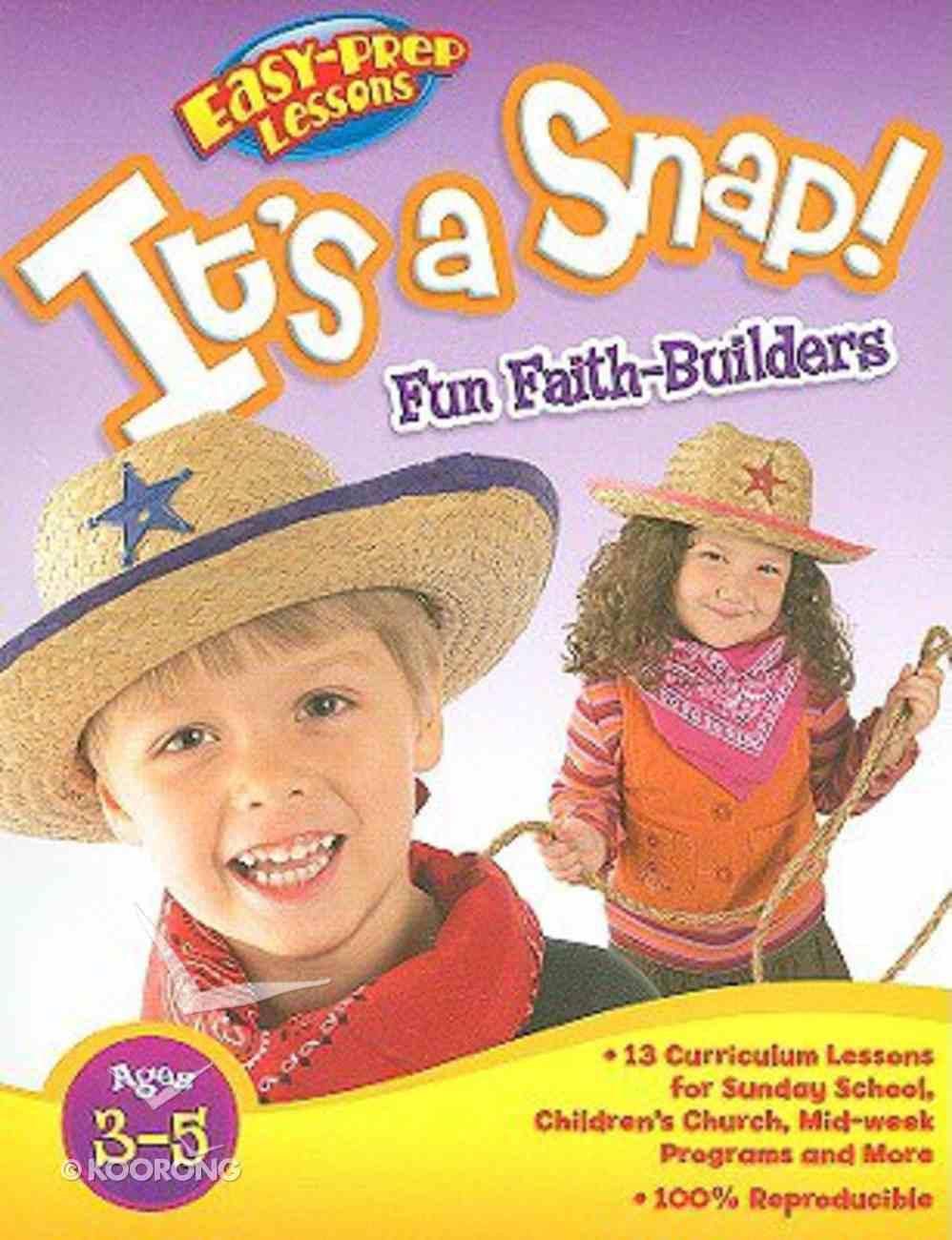 It's a Snap (Reproducible) (Pre-School) (Bible Fun Stuff Series) Paperback