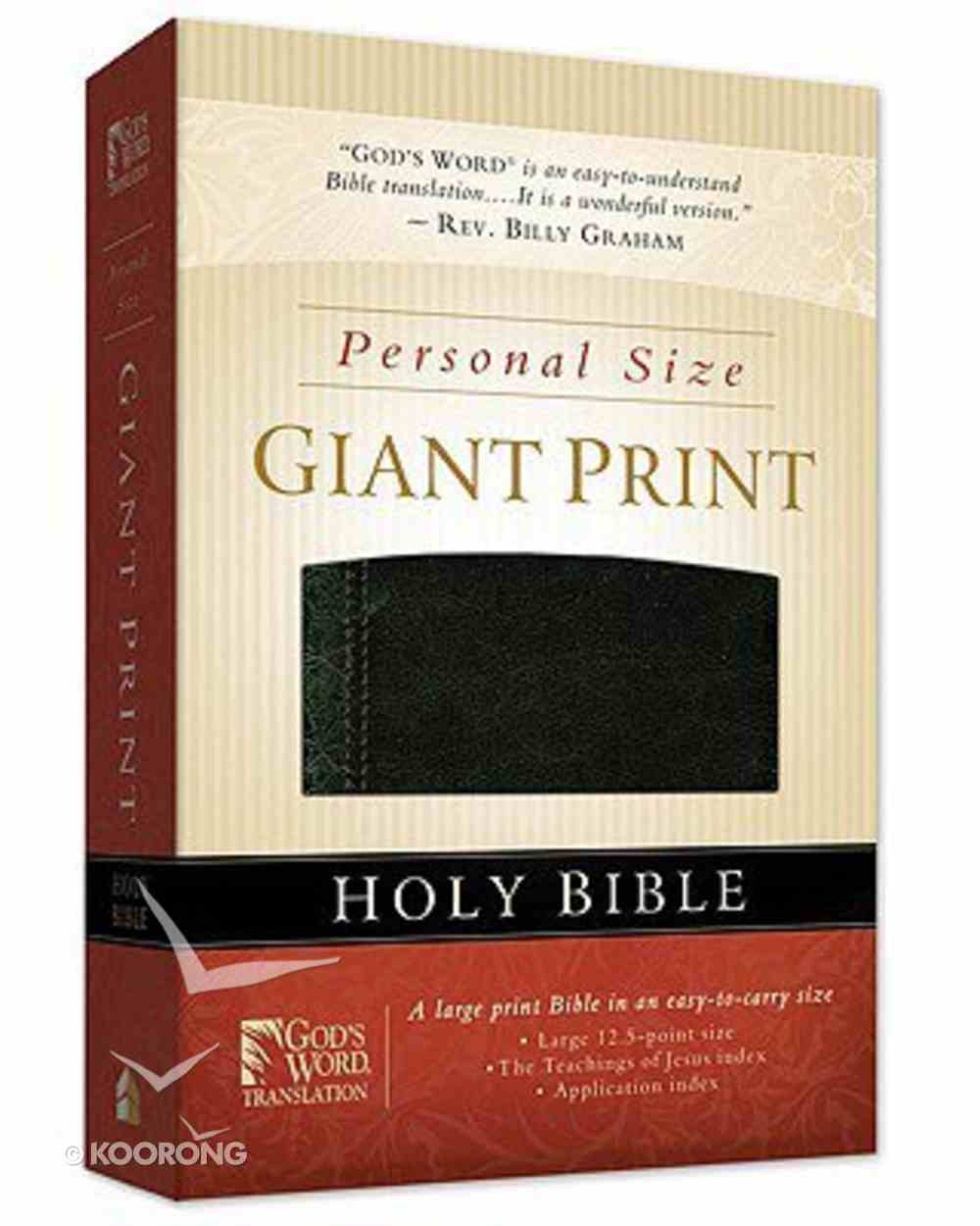 God's Word Personal Size Giant Print Black Duravella Imitation Leather