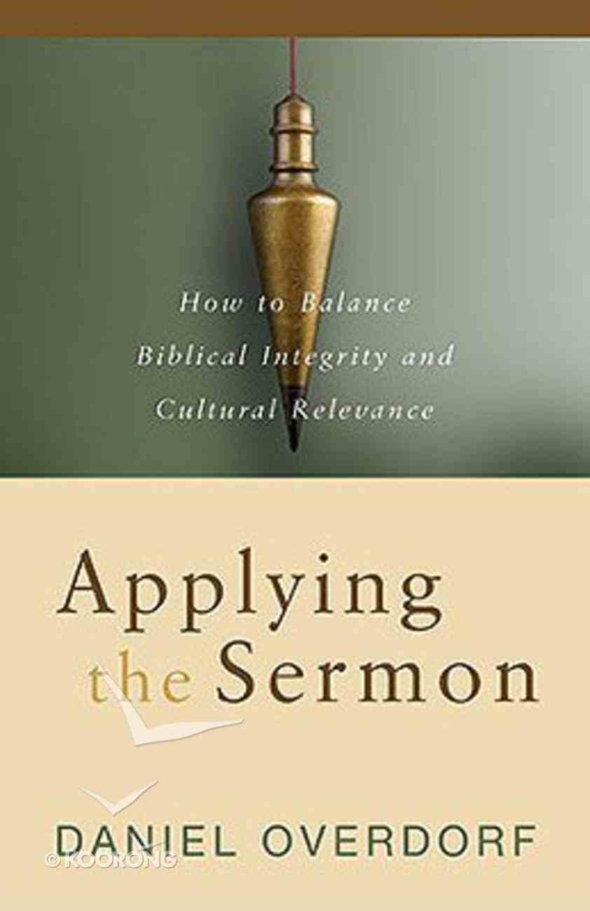 Applying the Sermon Paperback
