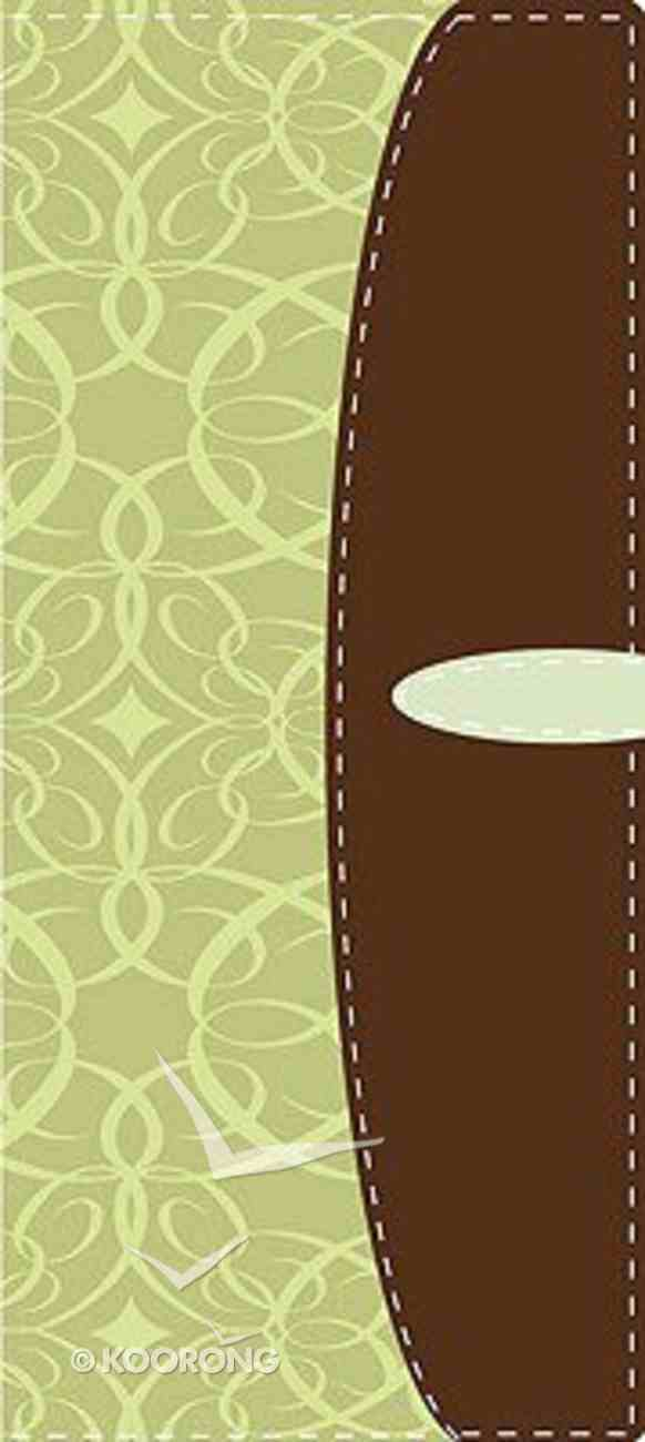 Nvi Biblia Delgada Verde/Marron (Trimline Green/brown) Imitation Leather