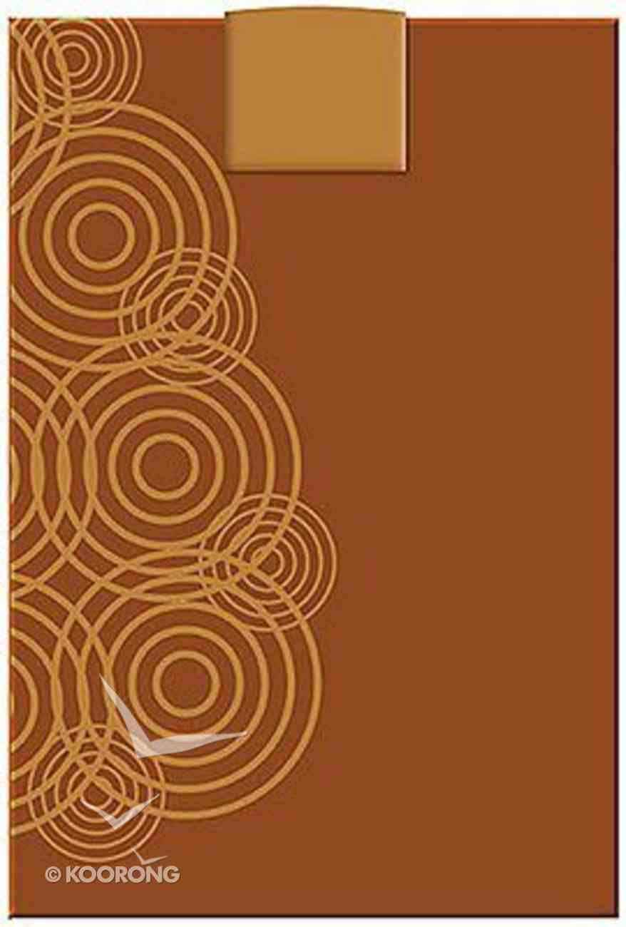 NKJV Personal Size Giant Print Reference Bible Designer Series Brown Bonded Leather
