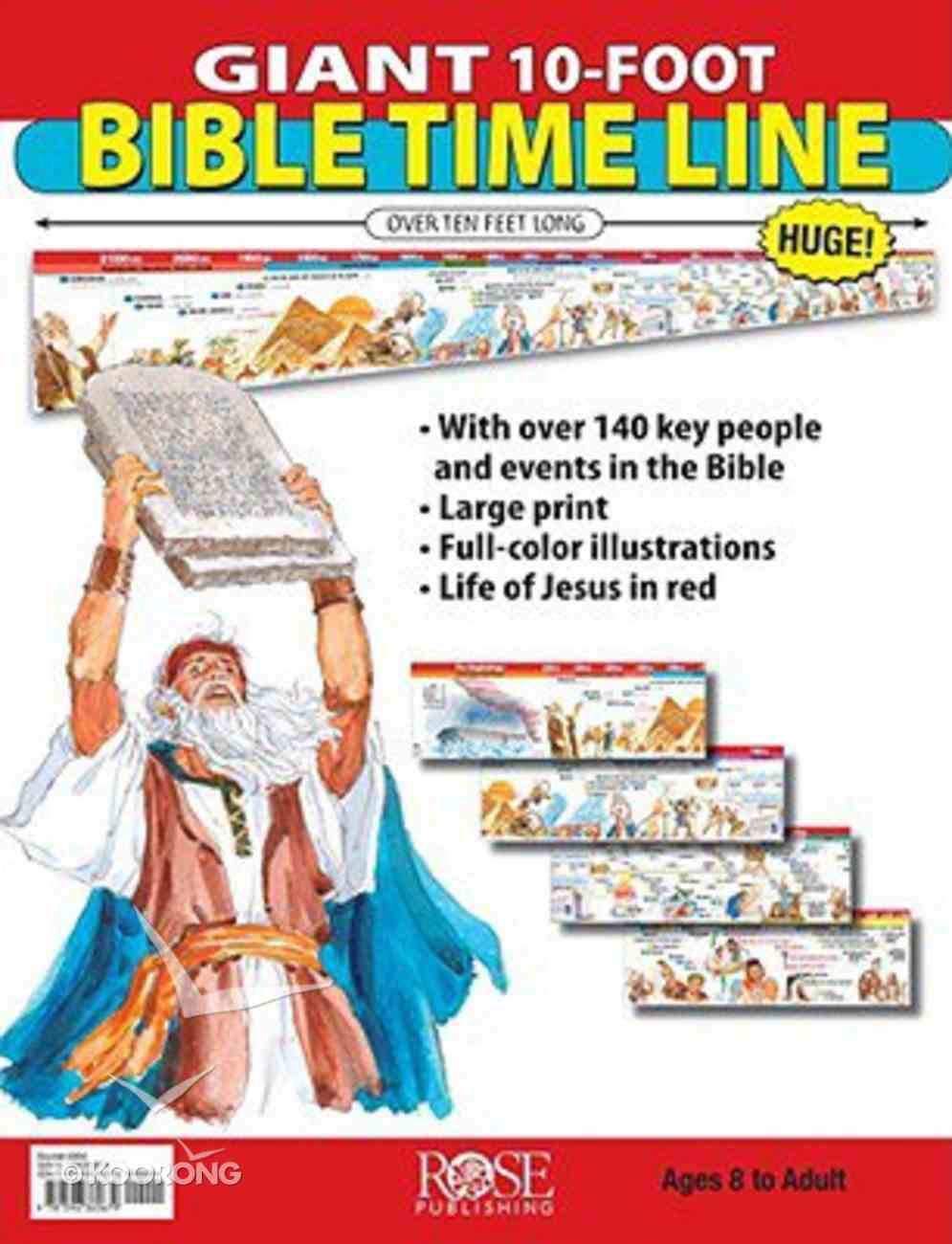 Classroom 10-Foot Bible Time Line Chart/card
