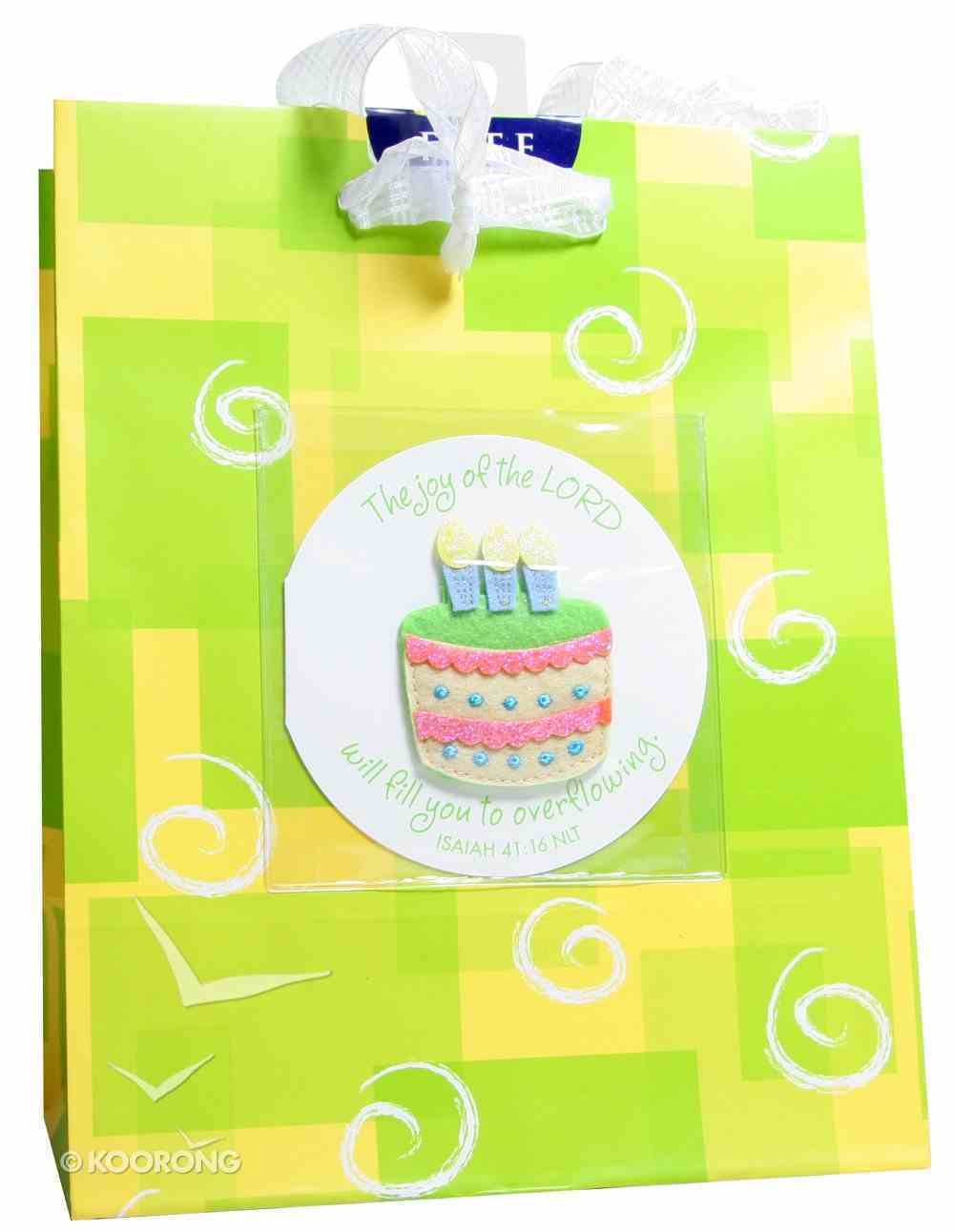 Gift Bag Medium: Birthday Cake (Incl Tissue And Gift Tag) Stationery