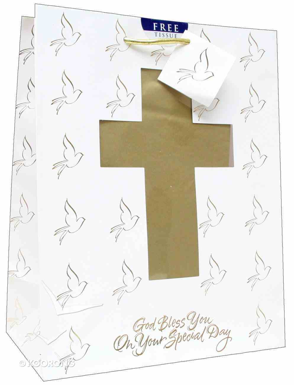 Gift Bag Large: Confirmation/Communion (Incl Tissue Paper & Gift Tag) Stationery