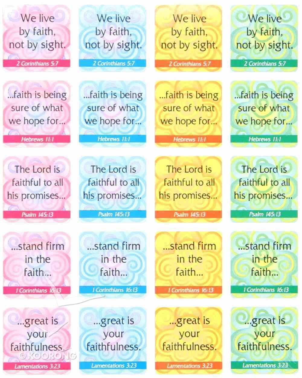 Sticker Pack: Faith Verses Novelty