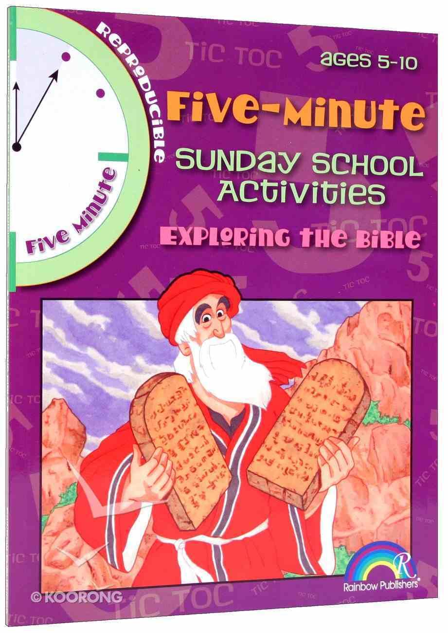 Exploring the Bible (5 Minute Sunday School Activities Series) Paperback
