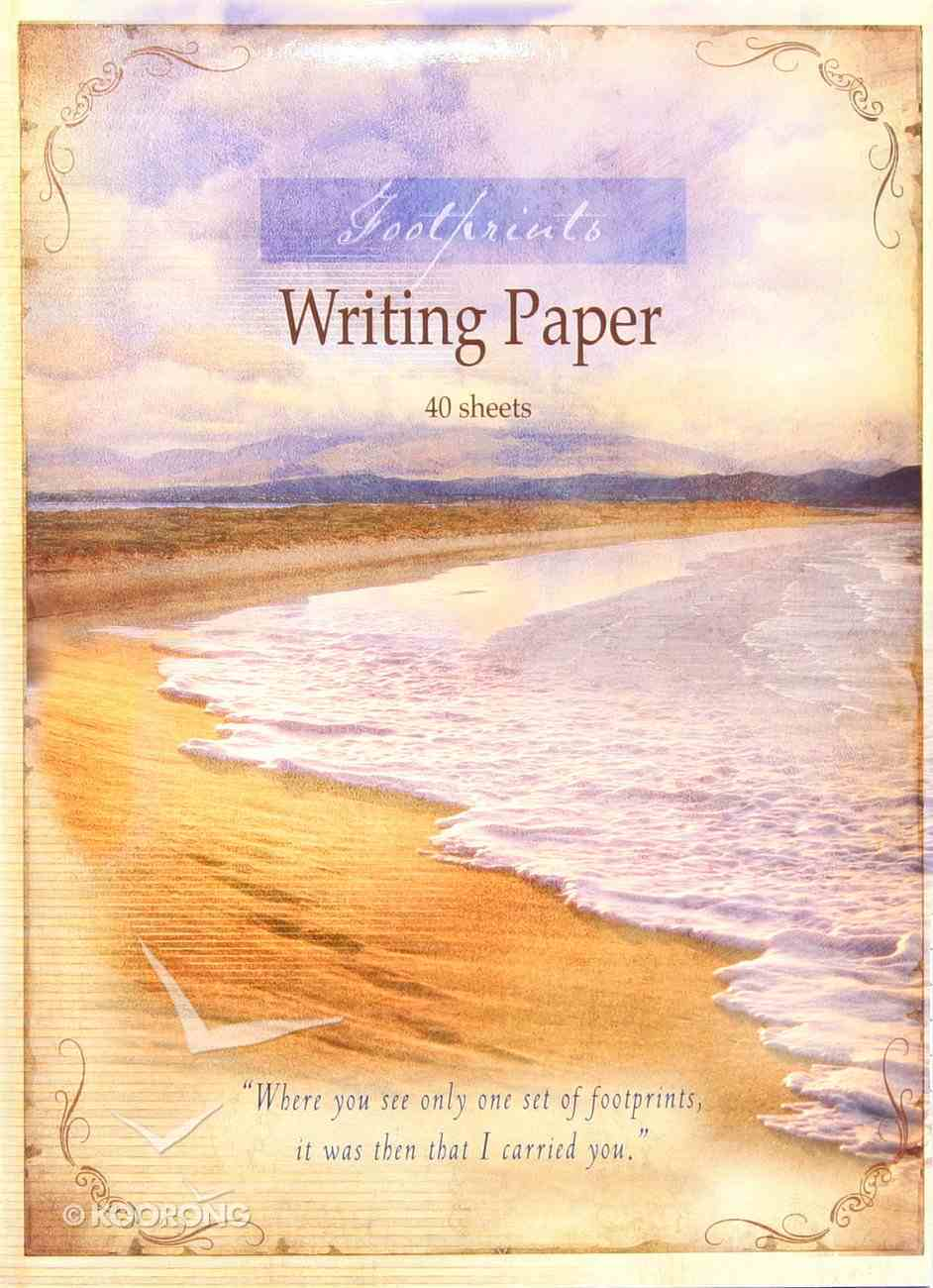 Writing Paper: Footprints Stationery