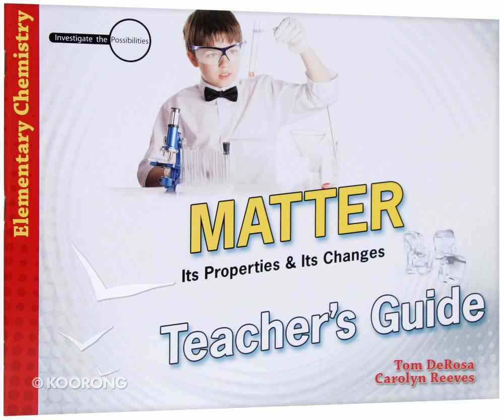 Matter (Teacher's Guide) (Elementary Science Series) Paperback