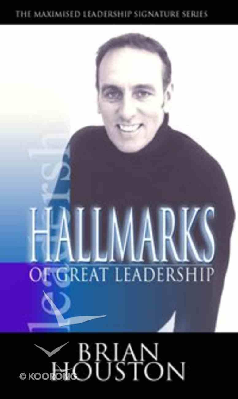 Hallmarks of Great Leadership (2 Cds) CD