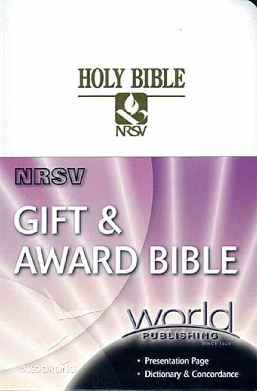 NRSV Gift and Award White Imitation Leather