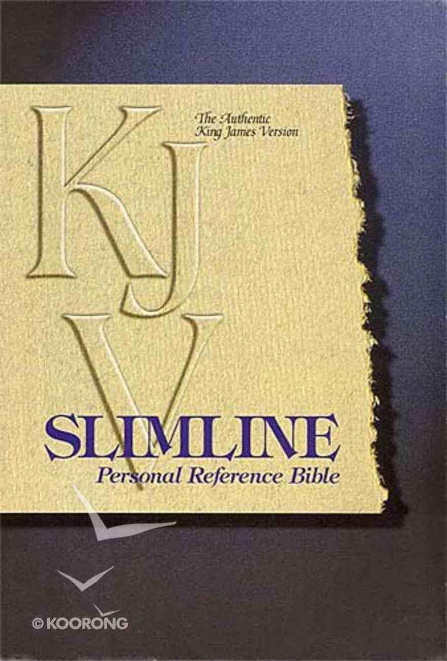 KJV Slimline Personal Reference Burgundy Snap Bonded Leather