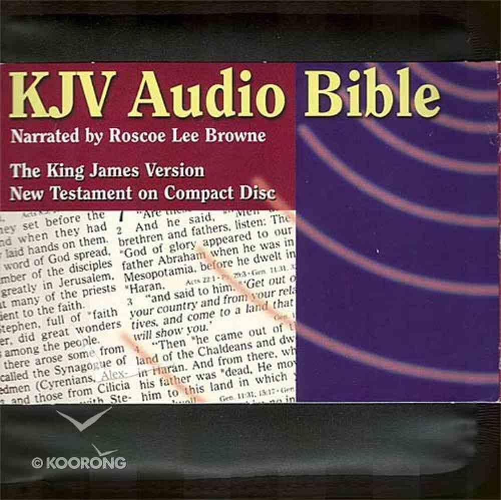 KJV Audio Bible New Testament on CD Black Zipper Pack CD
